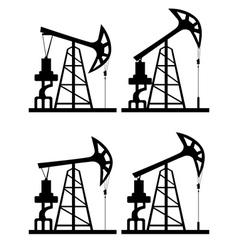 Oil derrick silhouette2 vector