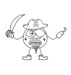 pirate sketch vector image vector image