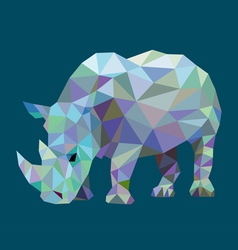 Rhinoceros low polygon style vector