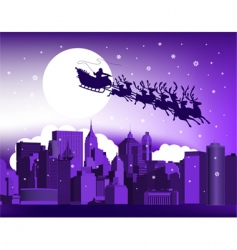 Santa in the city vector image