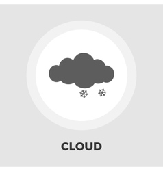 Snow flat icon vector image