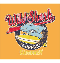 Surf Shark vector image