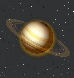 The Saturn in space vector image