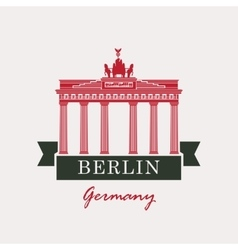 Brandenburg gate in berlin vector