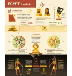 Egypt travel info - poster brochure cover vector