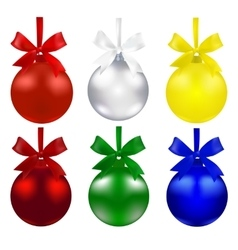 Set of balls christmas decorations the symbols vector