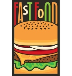 For fast food restaurant with cheeseburger vector