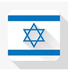 Simple flat icon Israel flag vector image