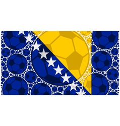 Bosnia and herzegovina soccer balls vector