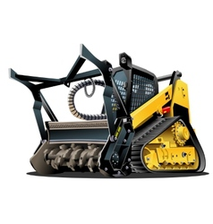 Cartoon land clearing mulcher vector