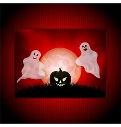 Halloween ghost panel background vector image