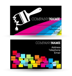 Business card for businesses painting vector
