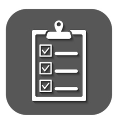 The checklist icon clipboard symbol flat vector