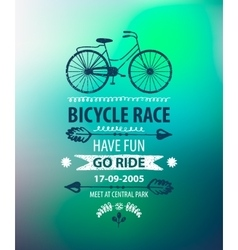 Bicycle poster bike race banner vector