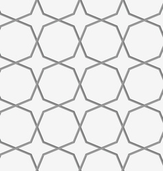 Perforated octagons forming stars vector