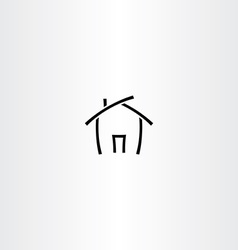 Black icon house home symbol vector