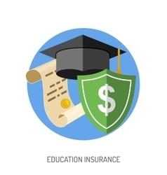 Education Insurance Flat Icon vector image