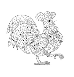 Cock coloring book for adults vector