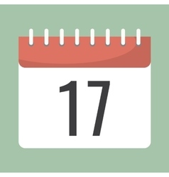 Agenda paper calendar icon with a date number vector