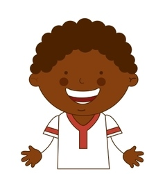 african boy character icon vector image