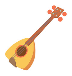 Arabic guitar icon cartoon style vector