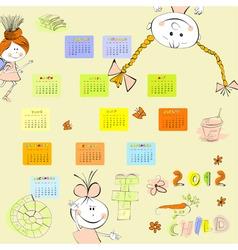 Cartoon style calendar 2012 vector