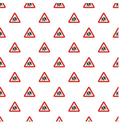 Children crossing the road pattern seamless vector