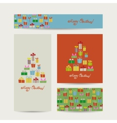 Christmas cards collection for your design vector image