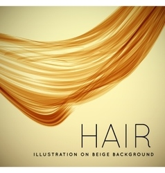 Closeup of long human hair vector