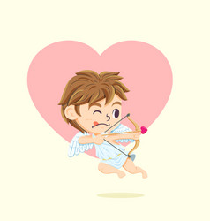 cupid character vector image