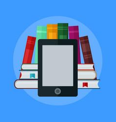 e-book concept university computer classroom vector image