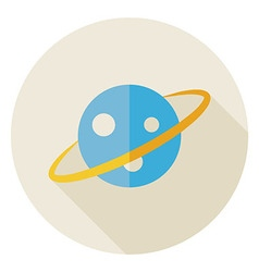 Flat Science Astronomy Space Planet Circle Icon vector image vector image