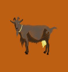 flat shading style icon goat vector image vector image