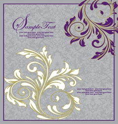 Floral Wedding Invitation Card vector image