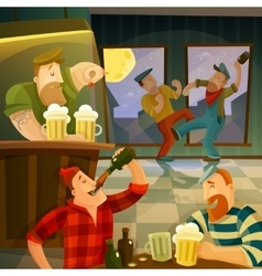 Irish Pub Background vector image vector image