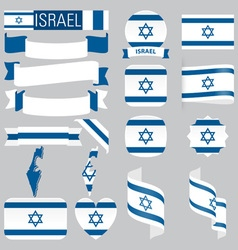 Israel flags vector image
