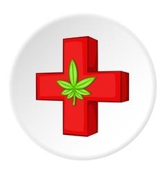 Medical marijuana icon cartoon style vector
