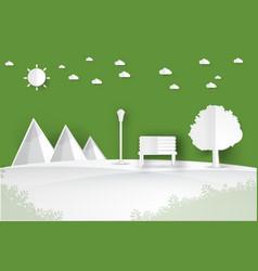 Minimalist landscape public park vector