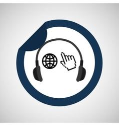 music app icon vector image vector image