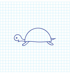 of zoology symbol on turtle vector image vector image