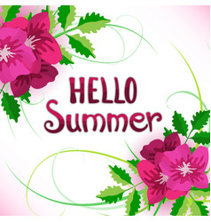Phrase hello summer vector