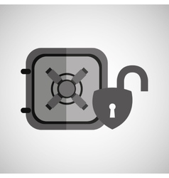 safe box padlock open protection design vector image