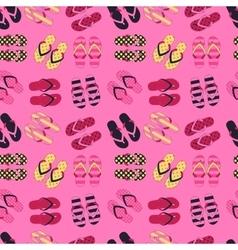 Seamless pattern of flip flops in vintage style vector image vector image