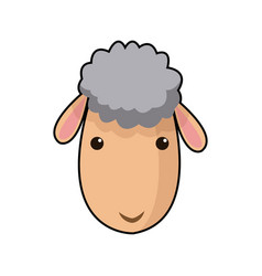 Sheep face manger animal cartoon image vector
