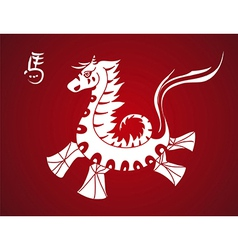 Traditional horse symbol chinese new year 2014 vector