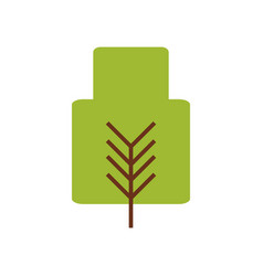 Tree nature symbol vector