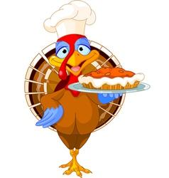 Turkey and pie vector