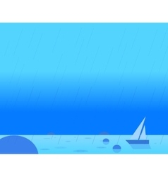 Wallpaper landscape of seascape and sail vector