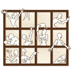 window of emotions vector image