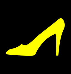 women shoe yellow sign 911 vector image vector image